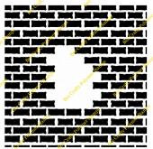Bee Crafty Inkables Template Mask - Brick Wall (with Hole)