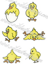Vilda Stamps - Small Chickens