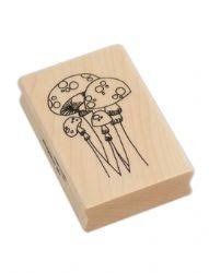 Dylusions Wooden Stamp - Mushrooms
