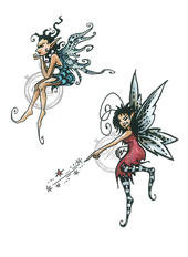 Vilda Stamps - Two Fairies