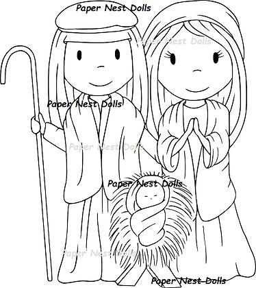 Paper Nest Dolls - Nativity