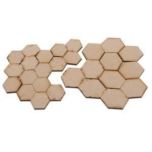 Creative Expressions MDF - Hexagon Tiles