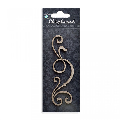 Little Birdie Chipboard  - Ornate Scroll
