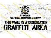 Inspired by Bansky - Graffiti Area - Stamp