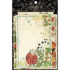 Graphic 45 Ephemera Cards - Time To Flourish
