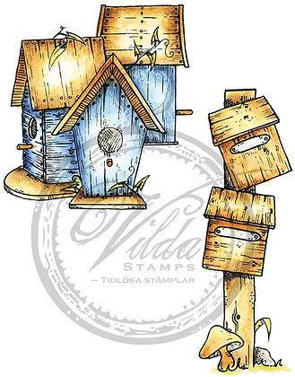 Vilda - Two Mailboxes And Three Bird Feeders