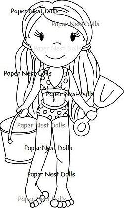 Paper Nest Dolls - Bikini Ellie