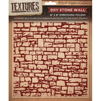 Crafters Companion Textures Folder - 8x8 - Dry stone Wall