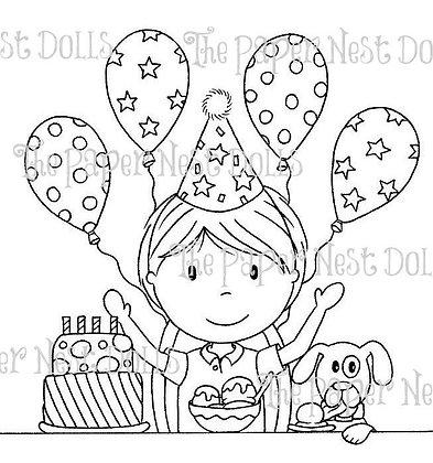 Paper Nest Dolls - Birthday Party Owen