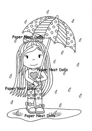 Paper Nest Dolls - Rainy Day Ellie