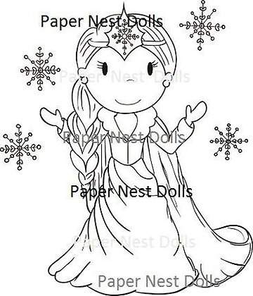 Paper Nest Dolls - Snow Princess