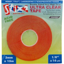 Stix 2 - Ultra Clear Red Line Tape - 3mmx15m