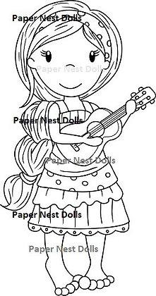 Paper Nest Dolls - Ukulele Ellie