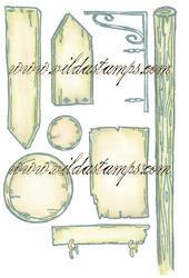 Vilda Stamps - Various Signs