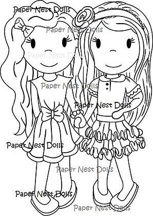 Paper Nest Dolls - Best Friends Forever
