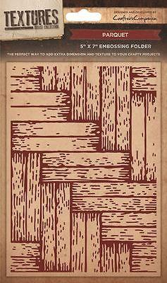Crafters Companion Textures Folder - 5x7 - Parquet