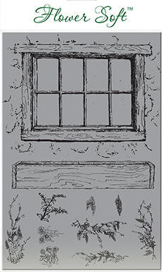 Flower Soft Stamp Set - Country Window