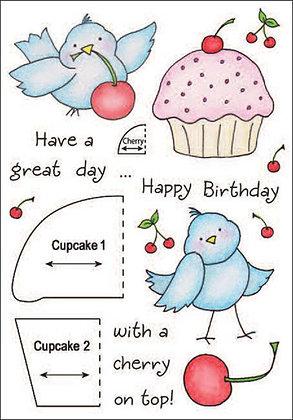 Inky Antics Stamp Set - Cupcake Birdy