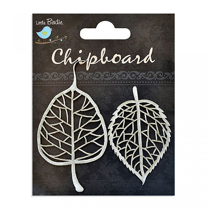 Little Birdie Chipboard  - Skeleton Leaves