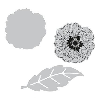 Sizzix Framelits Stamp and Die Set - Folk Flower