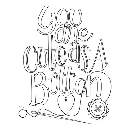 Spellbinders Stamp - Cute As A Button