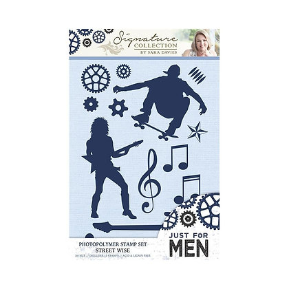 Just For Men Clear Stamp Set - Street Wise