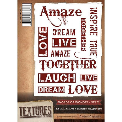 Crafters Companion Stamp Set - Words of Wonder 2
