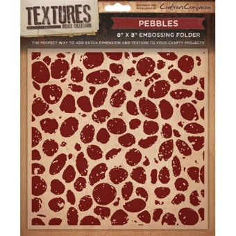 Crafters Companion Textures Folder - 8x8 - Pebbles