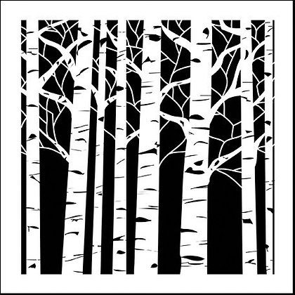 Crafters Workshop 12x12 Stencil - Aspen Trees