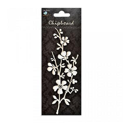 Little Birdie Chipboard  - Flower With Branch