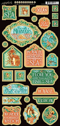 Graphic 45 Chipboard - Voyage Beneath the Sea 2