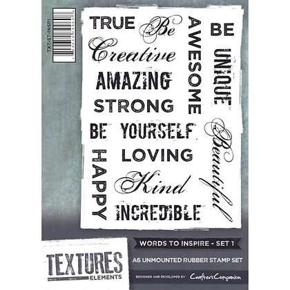 Crafters Companion Stamp Set - Words To Inspire 1