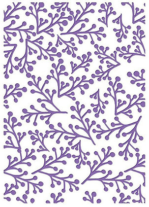 Couture Creations Embossing Folder - Twiggy Christmas