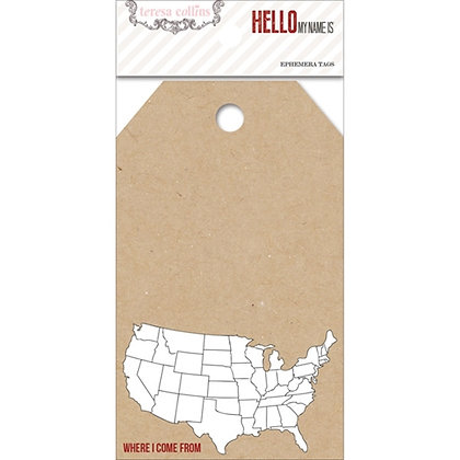 Teresa Collins Decorative Tags - My Name Is