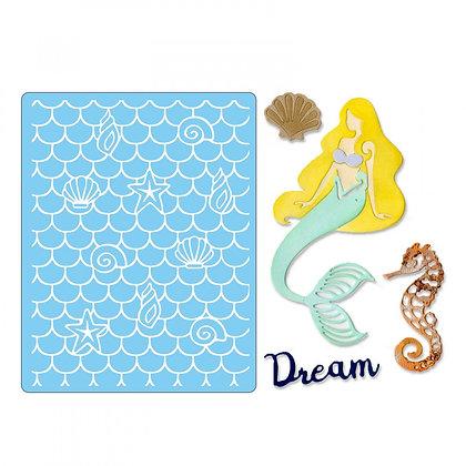 Sizzix Thinlits Die & Embossing Folder Set - Dream Mermaid