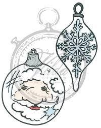 Vilda - Santa & Oval Christmas Ball