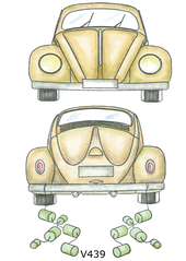 Vilda Stamps - Beetle Front and Rear