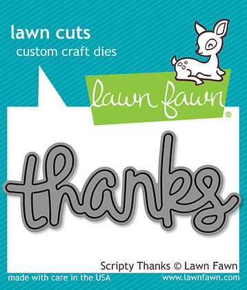 Lawn Fawn Die - Thanks