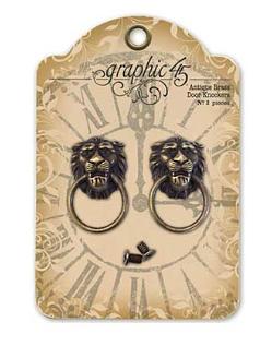 Graphic 45 Staples Metal Embellishments - Door Knockers