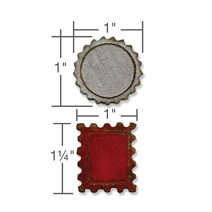 Tim Holtz Alterations Die Set - Mini Bottle Cap And Stamp