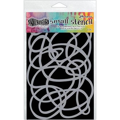Dylusions Small Stencil - Squiggle