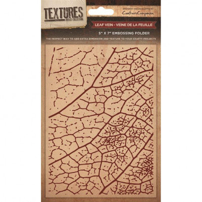 Crafters Companion Textures Folder - 5x7 - Leaf Vein