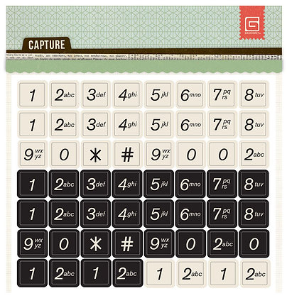 Basic Grey - Capture - Chipboard Numbers