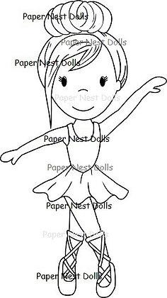 Paper Nest Dolls - Ballerina