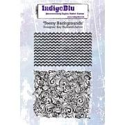 Indigo Blu Stamp Set - Teeny Backgrounds