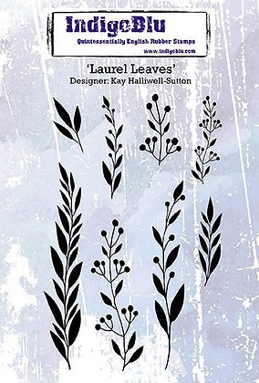 Indigo Blu Stamp set - Laurel Leaves