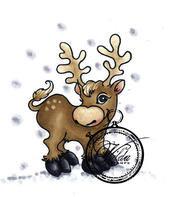Vilda Stamps - Reindeer