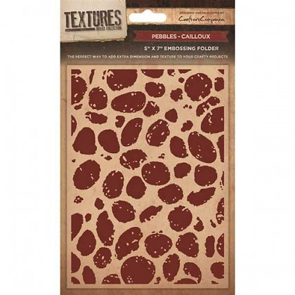 Crafters Companion Textures Folder - 5x7 - Pebbles