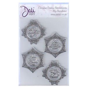 Dali Art Stamp Set - Circular Frame Sentiments