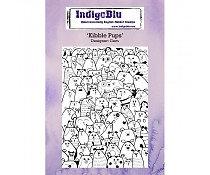 Indigo Blu Background Stamp - Kibble Pups